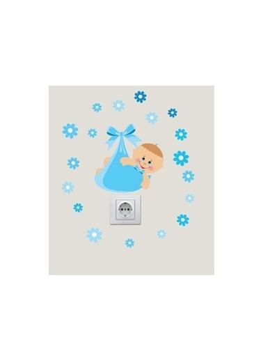 Disney Yeni Doğan Erkek Priz Sticker, Elektrik Düğmesi Sticker Renkli